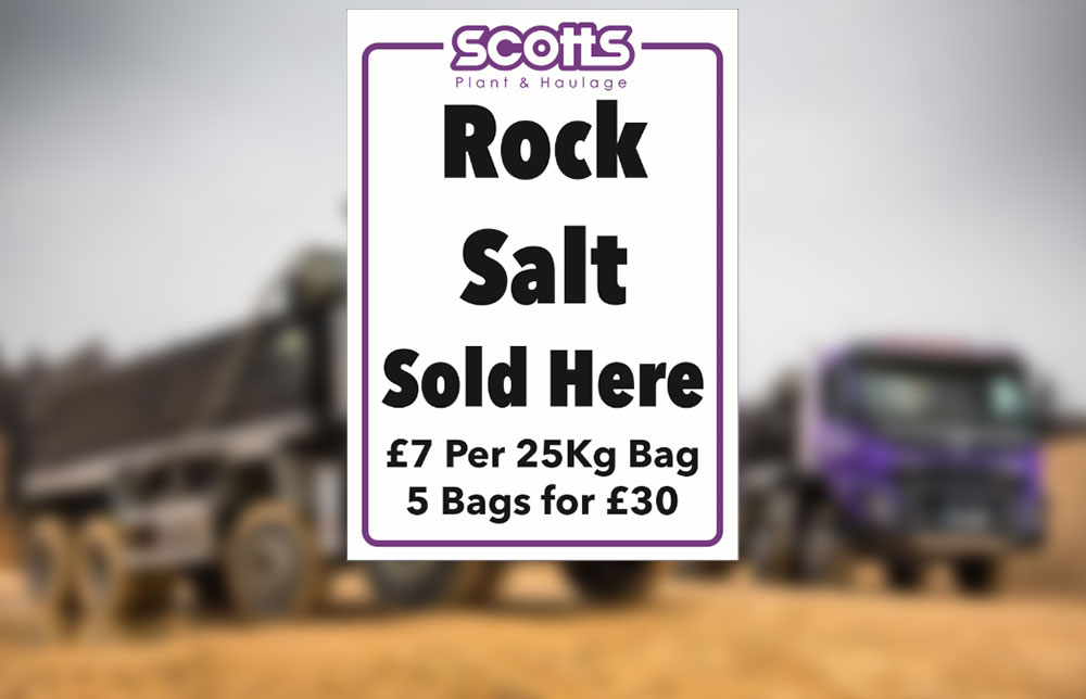 Rock salt for sale from the yard